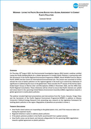 Report - Pacific Webinar Global Agreement Plastics - cover